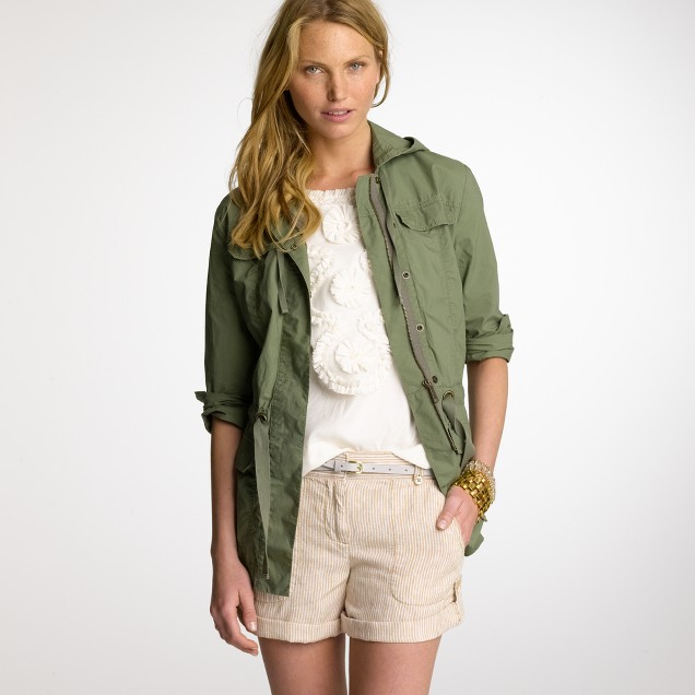 Poplin cargo jacket