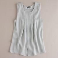 Silk georgette pleated top
