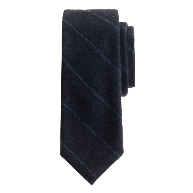 Italian wool tie in royal indigo stripe