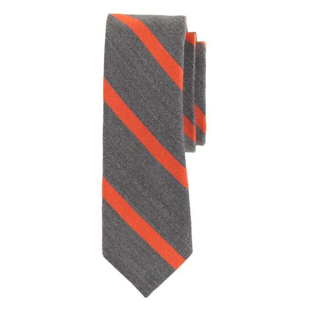English wool-silk tie in macartney stripe