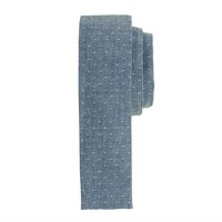 Microdot chambray tie