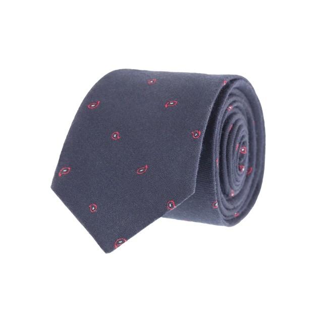 Mini-paisley wool tie