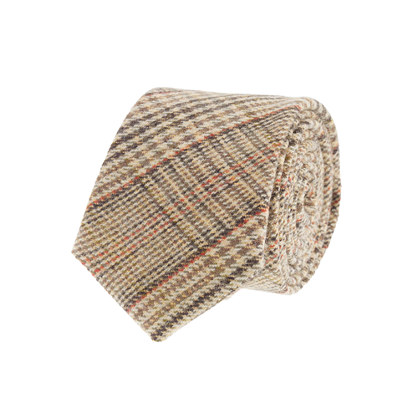 Glen plaid wool tie