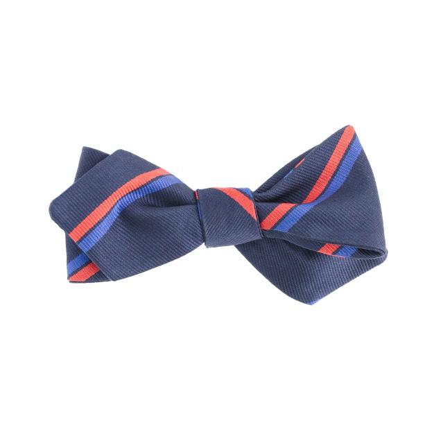 Stripe silk bow tie