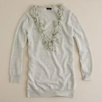 Merino petal scoopneck sweater