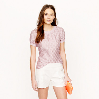 Jacquard dot top