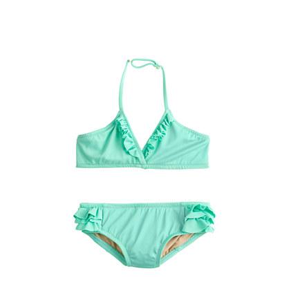 Girls' tiny ruffles bikini set