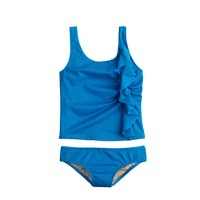 Girls' ruffle tankini set
