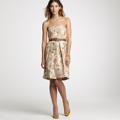 Slub silk daydream floral Lorelei dress