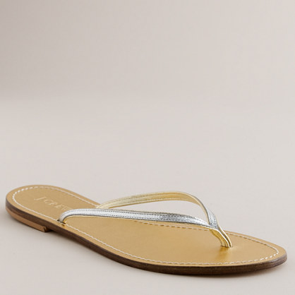 Metallic tonal capri sandals