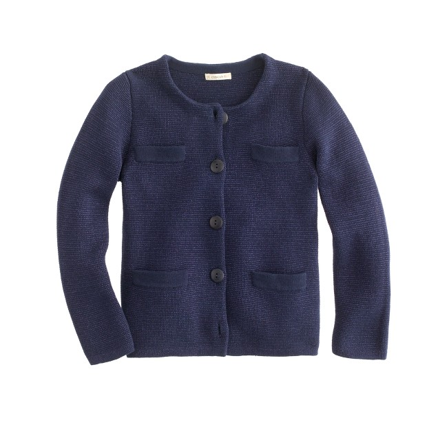 Girls' sweater-jacket