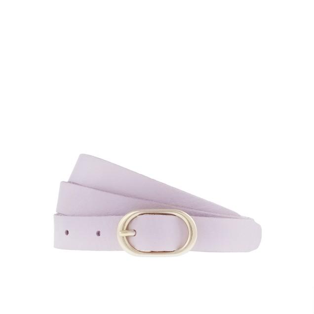 Leather round-buckle belt