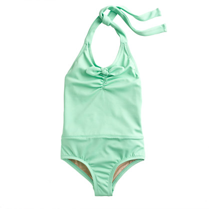 Girls' bow halter tank