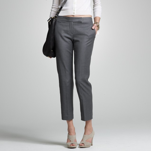 Cropped trouser in Super 120s