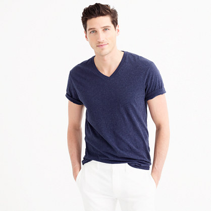 Slim broken-in V-neck T-shirt