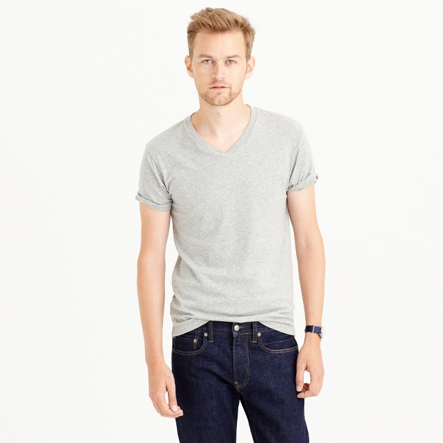 Slim broken-in V-neck T-shirt