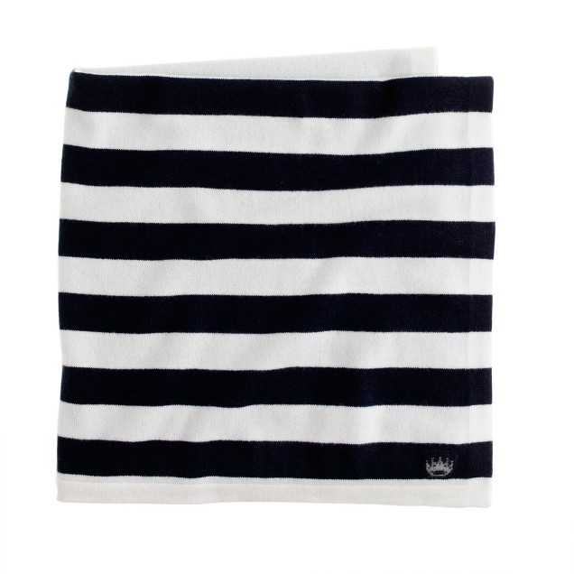 Collection cashmere baby blanket in stripe