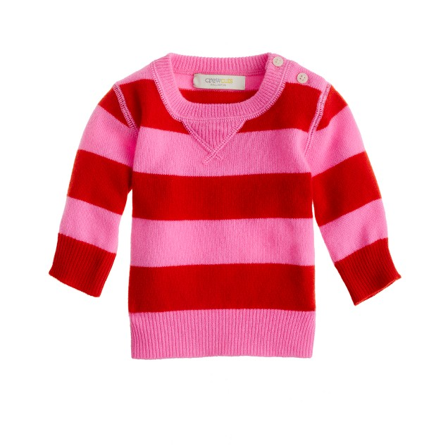 Collection cashmere baby sweater in stripe