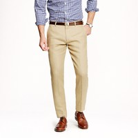 Ludlow slim suit pant in Irish linen