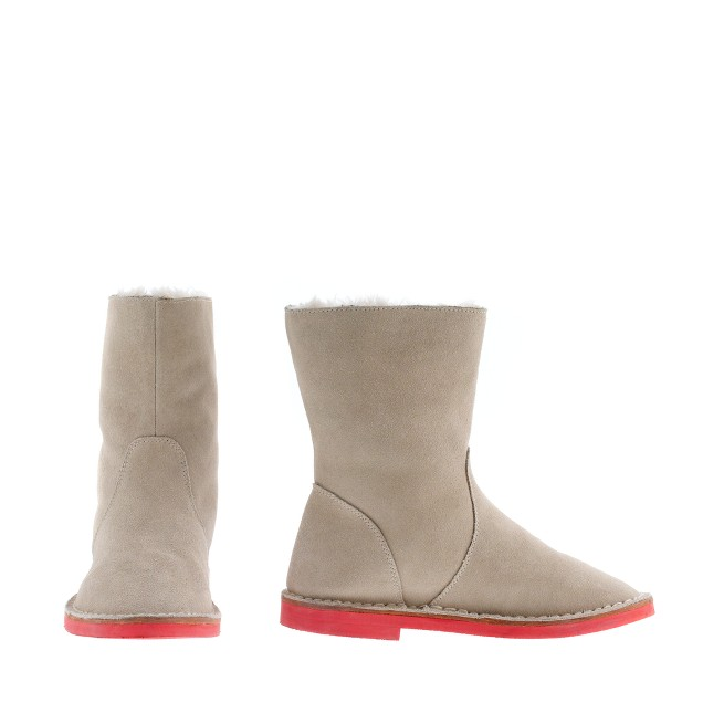 Girls' Contrast-sole pull-on boots