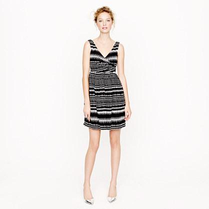 Abstract stripe dress