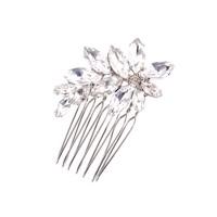 Mini jeweled flower comb