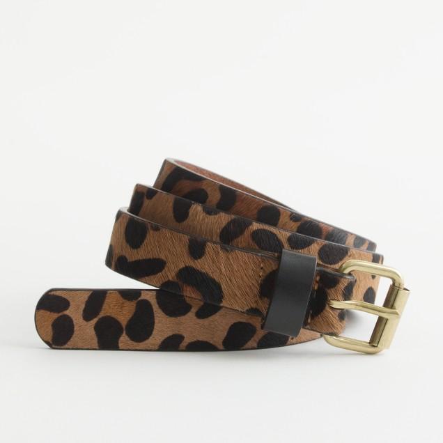 Factory wide calf hair belt