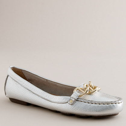 Catalina metallic-leather driving mocs