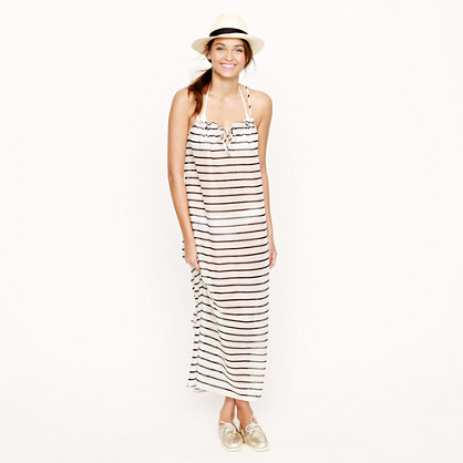 Sheer stripe maxidress