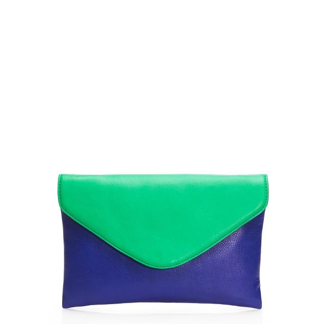Invitation clutch in colorblock