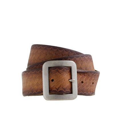 Basket-weave belt