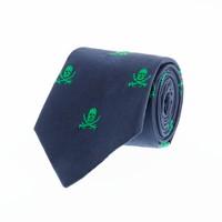 Boys' skull critter tie