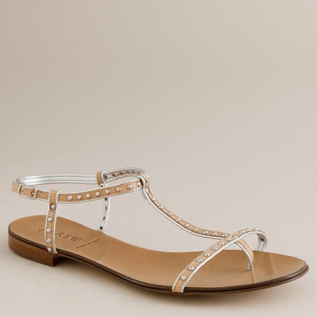 Studded gladiator sandals