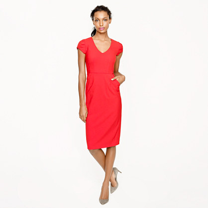 Petite director dress in stretch wool