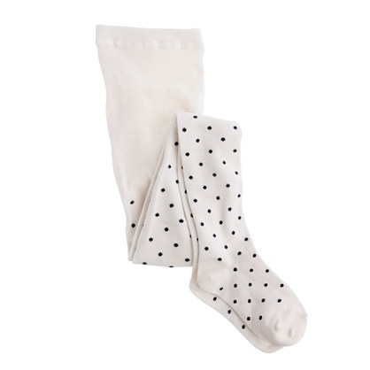 Girls' pindot tights