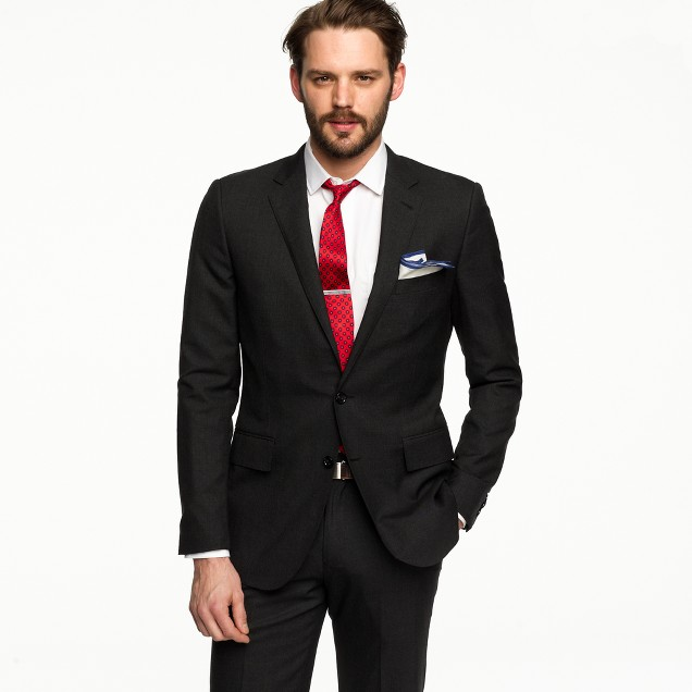Aldridge two-button suit jacket with center vent in Italian wool