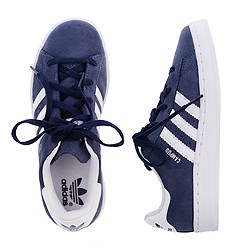 Kids' Adidas® navy campus sneakers in larger sizes