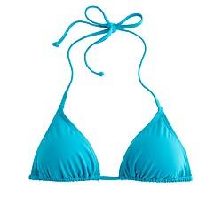 String bikini top in Italian matte