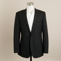 Italian wool pinstripe Aldridge two-button suit jacket with center vent