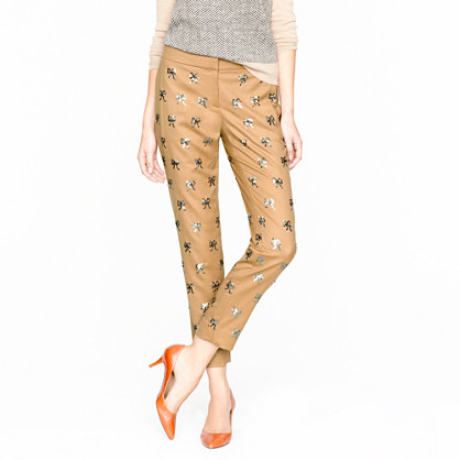 Collection sequin bow pant