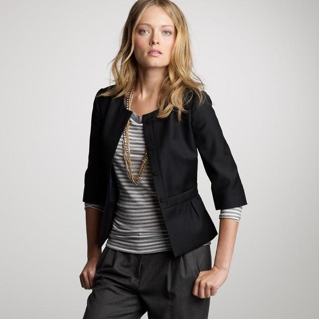 Peplum jacket in Super 120s