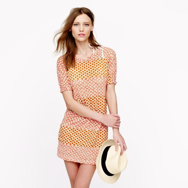 Block-print stripe dress