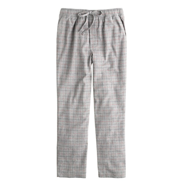 Flannel sleep pant in engine red check
