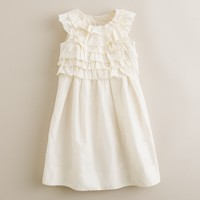 Girls' tiered silk taffeta Cody dress