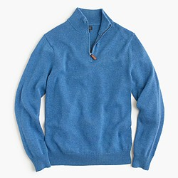 Tall cotton-cashmere half-zip sweater
