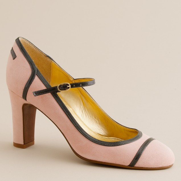 Spencer patent-trimmed suede Mary Janes