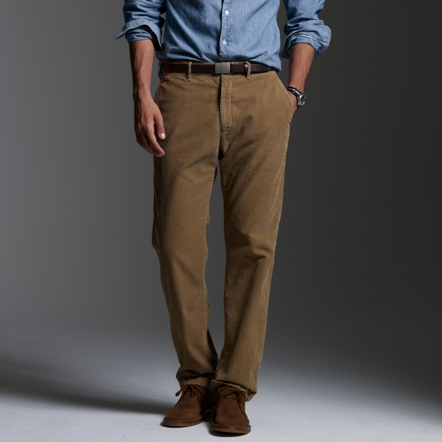 Classic-fit cord trouser