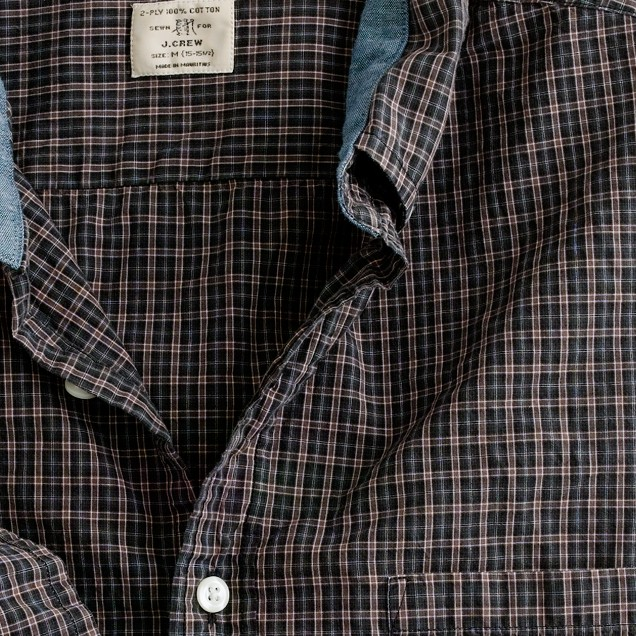 Secret Wash button-down shirt in scholar tartan