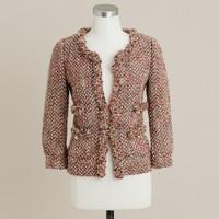 Blushed tweed collier jacket