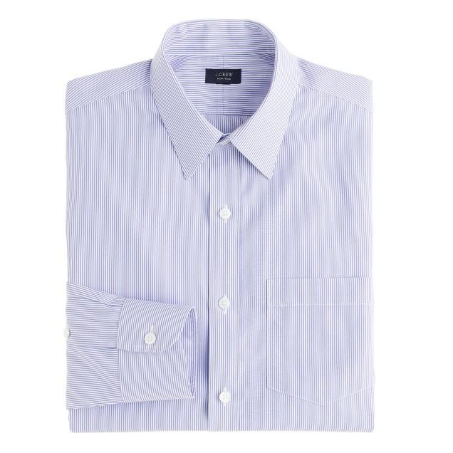Slim non-iron dress shirt in peri stripe